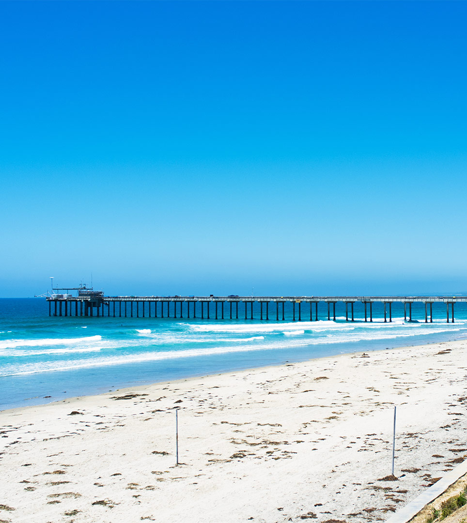 Enjoy Miles of pristine San Diego coastline